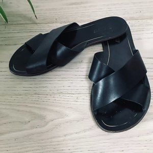 J. Crew Black Fat Sandals